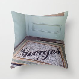 Georges Things Throw Pillow