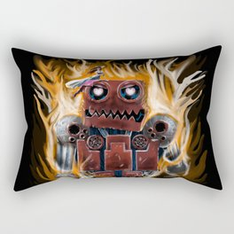 The Lady and The Robot Rectangular Pillow