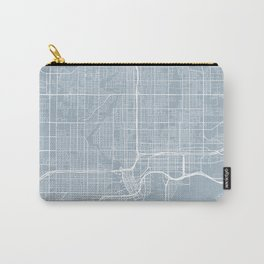 Tampa Map, USA - Slate Carry-All Pouch
