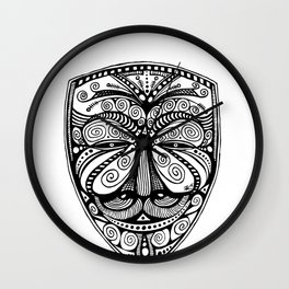 Guy Fawkes -- Anonymous -- Ornate Mask Wall Clock