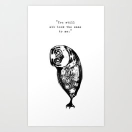 Identity Owl Captioned Art Print