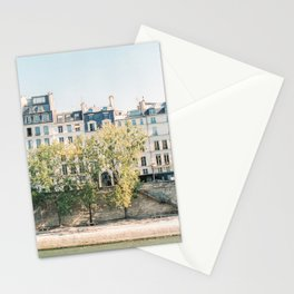 River Seine in Paris, France | lle Saint-Louis, Paris | Parisian Buildings | Travel Photography Stationery Cards