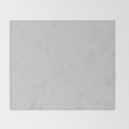 Plain grey fabric texture Throw Blanket