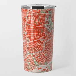 Vienna city map classic Travel Mug