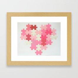 Puzzled Heart Framed Art Print