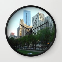 """""""A Nap In The Park"""" Wall Clock"""