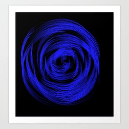 Neon Blue Loop Art Print