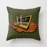 spaceship Throw Pillows featuring SPACEship by Tomas Jordan