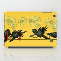 politics iPad Cases featuring Bird Politics by Aimee Cozza