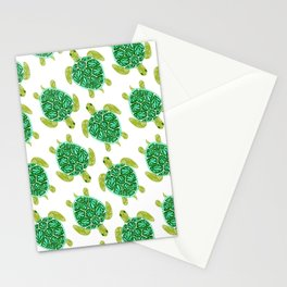 Sea Turtle – Green Palette Stationery Cards