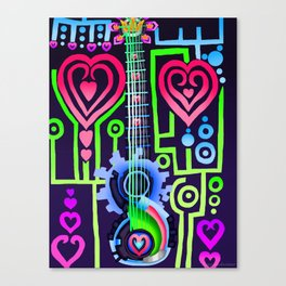 Fusion Keyblade Guitar #184 - Dual Disk & Overdrive Canvas Print