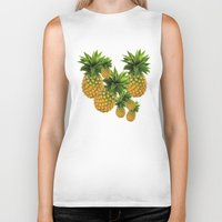 pineapples Biker Tanks featuring Pineapples by Erika Kaisersot