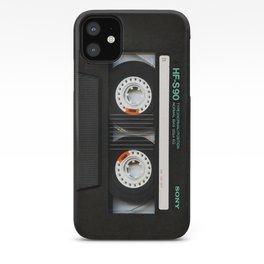 Black Retro Cassette tape iPhone Case
