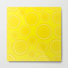 Lemon Wedges Metal Print