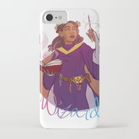 wizard iPhone & iPod Cases featuring Wizard by Regina Legaspi