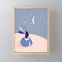 The moon Catcher Framed Mini Art Print