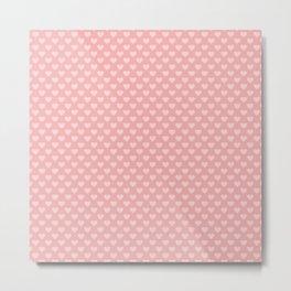 Large Light Pink Love Hearts on Blush Pink Metal Print