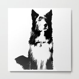 Gal Custom Dog art Metal Print