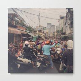 Traffic in Vietnam Metal Print