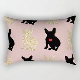Dazzling French Bulldogs Rectangular Pillow