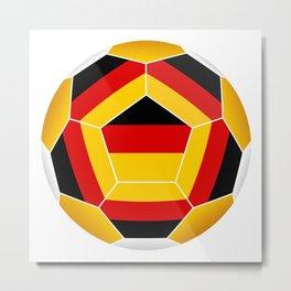 Football ball with German flag Metal Print