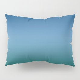 Blue Classic Green Light Dark Ombre Gradient Pattern Trendy Colors of Year 2020 Pillow Sham