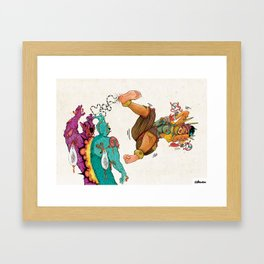 The Power Of Xbalanque's Blood Reunites The Tsomborga Brothers Framed Art Print