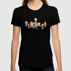 Firefly: The Gang - revised MEDIUM Black Womens Fitted Tee