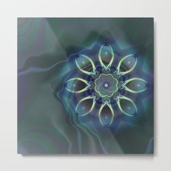 Blue Tone Fractal Metal Print