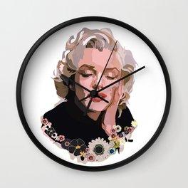 Marilyn Monroe with Flowers Wall Clock