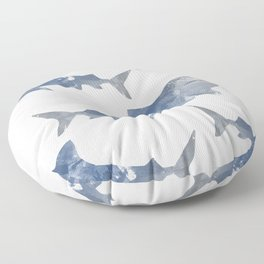 The World is Full of Sharks Floor Pillow