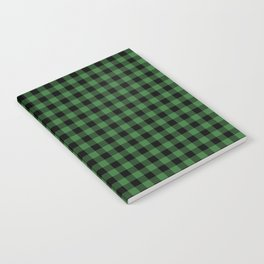 Classic Green Country Cottage Summer Buffalo Plaid Notebook