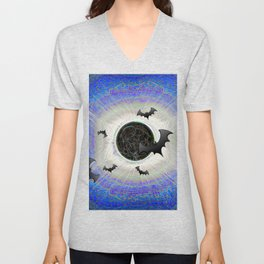 HALLOWEEN ECLIPSE IS NEVER OVER Unisex V-Neck
