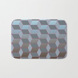 Abstract gradient background with geometric lines Bath Mat