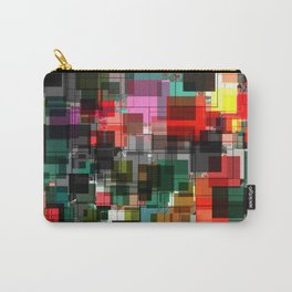 Red Black Green Square Overlay Pattern Design Carry-All Pouch
