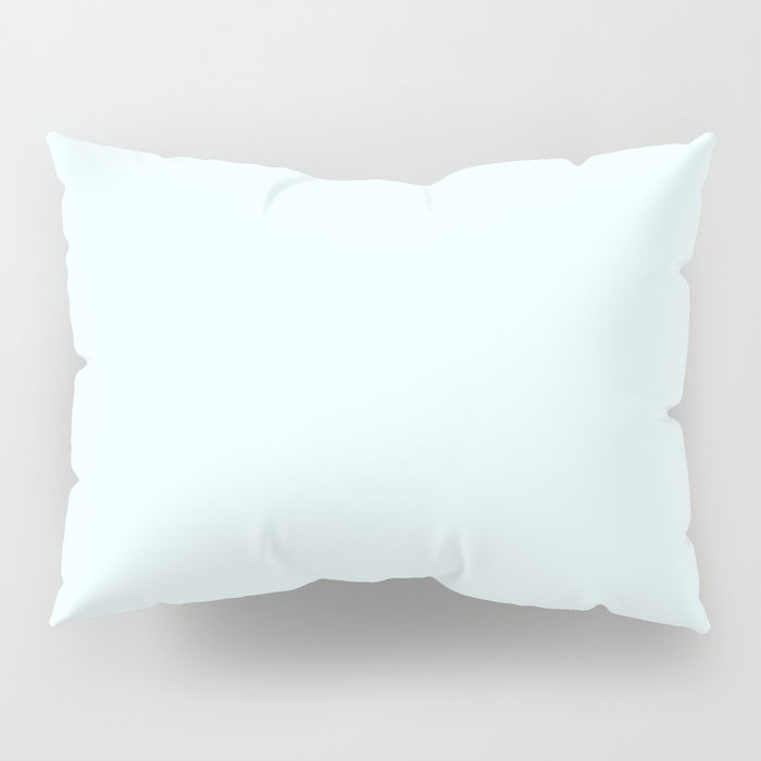 Cheap Solid Light Azure Blue Color Pillow Sham