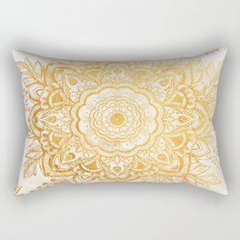 Queen Starring of Mandala-Gold Sunflower Rectangular Pillow