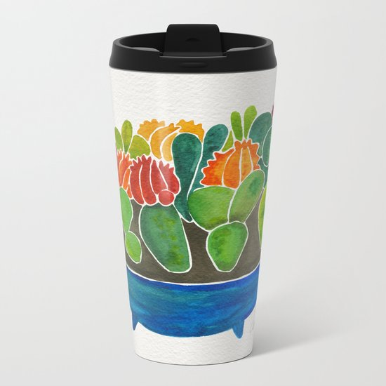 Succulents Metal Travel Mug
