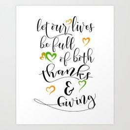 Thanksgiving idea, Thanksgiving gift, Black & White Typography art HOLIDAZE Art Print