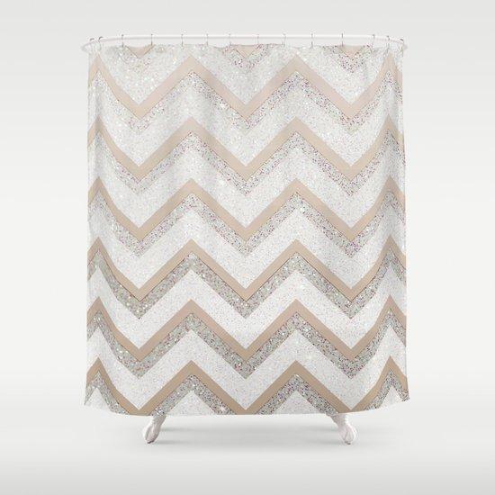 NUDE CHEVRON Shower Curtain