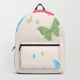 Butterfly Group Of Colorful Butterflies Backpack