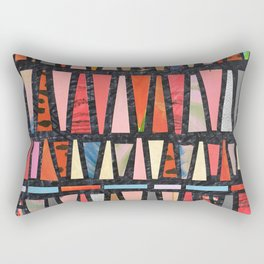 Pink Pyramid Pattern Rectangular Pillow