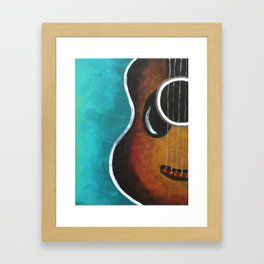Smiling Guitar Framed Art Print