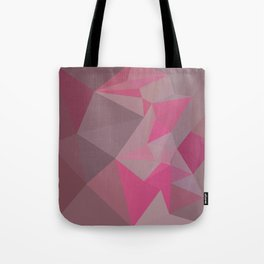 Fandango Pink Abstract Low Polygon Background Tote Bag
