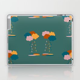 Colorful clouds and rain drops pattern Laptop & iPad Skin