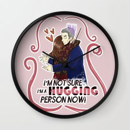 Hugging person... Wall Clock