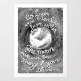 Pablo Neruda Quote Art Print