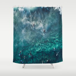 Surfing in the Ocean 2 Shower Curtain