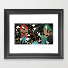 Fear and Loating in 3D MarioWorld Framed Art Print