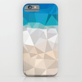Low poly beach iPhone Case